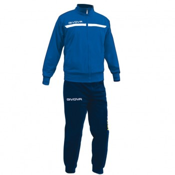 TUTA GIVOVA ONE FULL ZIP 0204 - Azzurro/Blu